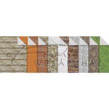 Kartonpapír csomag, Modellkarton A/4, 300 g, 9 lap, kétoldalas - Vegyes építészeti minta