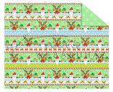 Kartonpapír - Karácsony, Télapó és a manók sormintás Karton, 300 g, 1 lap