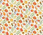 Kartonpapír - Őszi mozaik mókus, madárijesztő, sütőtök mintás karton, 29,5x20 cm, 1 lap