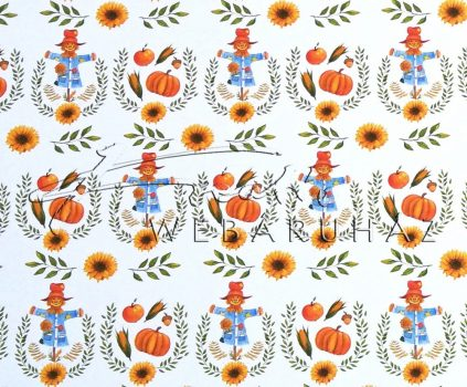 Kartonpapír - Őszi mozaik sormintás karton, madárijesztő, sütőtök és őszi motívumok