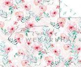Kartonpapír - Just Married, Rózsaszínes, bazsarózsa mintás karton, esküvői meghívókhoz