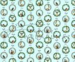Kartonpapír csomag - Karácsony, Téli álom Díszes koszorúk madarakkal és erdei állatokkal
