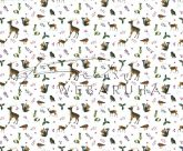 Kartonpapír csomag - Karácsony, Téli álom Az erdő lakói, szarvas, mókus mintás Karton