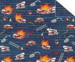 Kartonpapír - Mesevilág piros Tűzoltóautó mintás karton 29,5x20cm, 1 lap