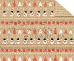 Kartonpapír - Karácsony ünnepe Hóember, karácsonyfa sormintás Karton, 300g, 1 lap