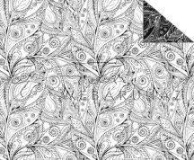 Színezhető mintás karton - Népies virág motívumok