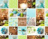 Kartonpapír- Húsvéti díszek, virágok, hímestojás fotómontázs Karton, 29,5x20 cm, 1 lap