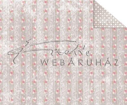 Kartonpapír - Virágok és csipke Karton, 1 lap