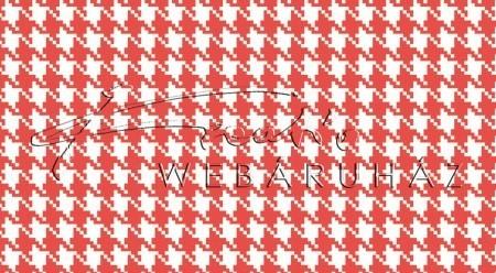 Kartonpapír - Piros-fehér, mini Pepita kocka mintás karton 29,5x20cm, 1 lap