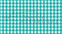 Kartonpapír - Türkizkék-fehér, mini Pepita kocka mintás karton 29,5x20cm, 1 lap