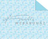 Kartonpapír - Babaváró, kék Csiga-biga mintás karton, 1 lap