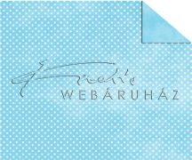 Kartonpapír - Babaváró, kék alapon, apró fehér pöttyös mintás karton, 1 lap