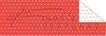 Kartonpapír - Pöttyös, piros karton, 29,5x20cm, 1 lap
