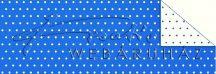 Kartonpapír - Pöttyös, kék karton, 29,5x20cm, 1 lap