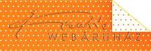 Kartonpapír - Pöttyös, narancs karton, 29,5x20cm, 1 lap