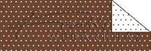 Kartonpapír - Pöttyös, barna karton, 29,5x20cm, 1 lap