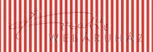 Kartonpapír - Piros, csíkos karton, 29,5x20cm, 1 lap