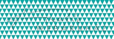 Kartonpapír - Türkizkék-fehér, geometrikus háromszögek mintás karton 29,5x20cm, 1 lap