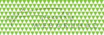 Kartonpapír - Zöld-fehér, geometrikus háromszögek mintás karton 29,5x20cm, 1 lap