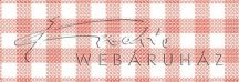 Kartonpapír - Kockás terítő, rubinpiros nagykocka mintás karton, 29,5x20cm, 1 lap