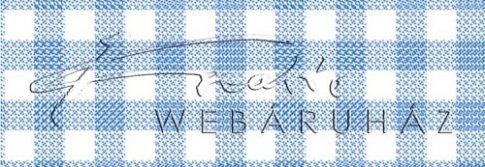 Kartonpapír - Kockás terítő, kék nagykocka mintás karton, 29,5x20cm, 1 lap