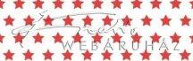 Kartonpapír - Piros csillagos karton, apró csillag mintával 29,5x20cm, 1 lap