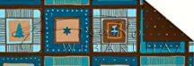 Kartonpapír - Karácsonyi varázslat Mozaik karácsonyi motívumokkal mintázatú Karton, kék-arany