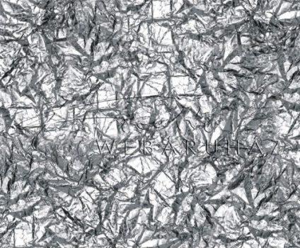 Kartonpapír - Gyűrött alufólia mintás, Karton, 1 lap
