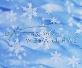 Kartonpapír - Karácsonyi hangulat, Hópehely mintás karton, 29,5x20cm, 1 lap