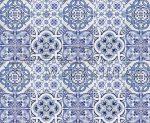 Kartonpapír kék kerámia, Mintás karton 1 lap