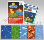 Kartonpapír csomag - Természeti minták - 300 g, 23x33cm 10 lap, 5 minta