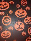 Kartonpapír - Halloween, Töklámpások fekete alapon mintás Karton, 300 g, 1 lap
