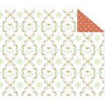 Kartonpapír- Karácsonyi klasszikus piros-zöld, hópelyhes és csengettyűs, designkarton, 1 lap