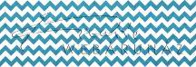 Kartonpapír - Türkizkék Chevron cikk-cakk mintás karton 29,5x20cm, 1 lap