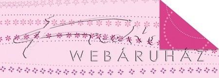 Kartonpapír - Babaváró rózsaszín virág mintás Karton, 1 lap