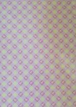 Kartonpapír - Babaváró kék Joline aprómintás karton, 1 lap