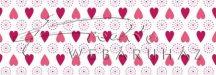 Kartonpapír - Apró szívecskék mintás Karton, 300g, 1 lap