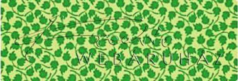 Kartonpapír - Apró zöld levél mintás karton, 1 lap