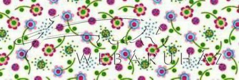 Kartonpapír - Apró zöld,kék-rózsaszín virág mintás karton, 1 lap