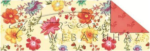 Kartonpapír - Romantikus kert Jolly pasztell virág mintás Karton, 1 lap