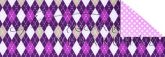 Kartonpapír - Karácsony, Lila kárók mozaik mintás karton, 29,5x20cm, 1 lap