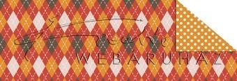Kartonpapír - Karácsony, piros kárók mozaik mintás karton, 29,5x20cm, 1 lap