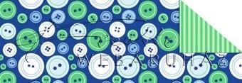 Kartonpapír - Télidő mozaik, Kékes gomb mintás karton, 1 lap