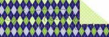 Kartonpapír - Karácsony, kék kárók mozaik mintás karton, 29,5x20cm, 1 lap