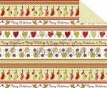 Kartonpapír - Karácsonyi tradíciók Piros, zöld szív, téli zokni,  sormintás Karton, 29,5x20cm