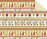 """Kartonpapír - """"Karácsonyi tradíciók"""" Piros, zöld szív, téli zokni,  sormintás Karton, 29,5x20cm, 1 l"""