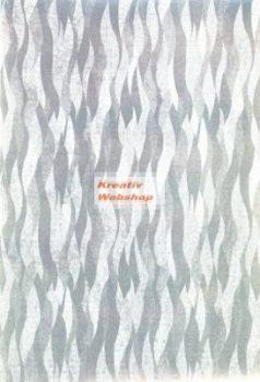 Holografikus kartonpapír - Ezüst hullám mintával, 20x30 cm, 1 lap