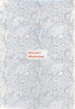 Holografikus kartonpapír - Ezüst fantázia mintával, 20x30 cm, 5 lap/csomag