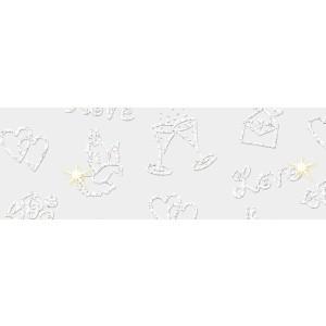 Kartonpapír - Esküvői fehér kartonpapír, 220 gr. A4 - 25 lap