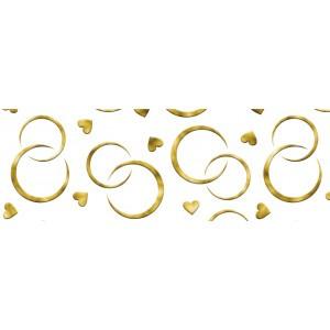 Kartonpapír - Esküvői arany karikagyűrű mintás kartonpapír, 20 gr. A4 - 1 lap